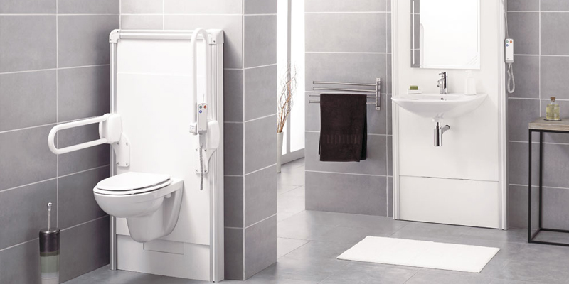 Douche handicape norme for Salle de bain handicape